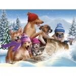 Puzzle  Sunsout-28695 XXL Teile - Winter Fun