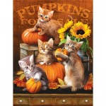 Puzzle  Sunsout-28762 XXL Teile - Autumn Kitties