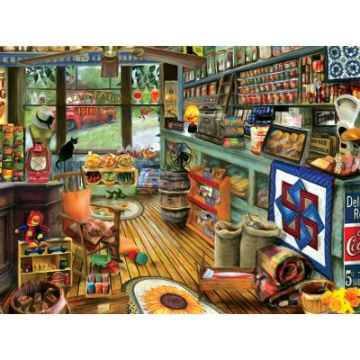 Puzzle Sunsout-28926 Tom Wood - Shopping Day