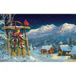 Puzzle  Sunsout-29071 Sam Timm - Cardinals Holiday