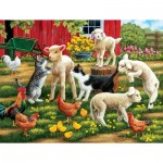 Puzzle  Sunsout-30439 XXL Teile - Lambs on the Loose