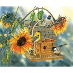 Puzzle  Sunsout-30619 Janene Grende - Bear Valley Birds
