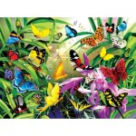 Puzzle  Sunsout-34867 Lori Schory - Tropical Butterflies