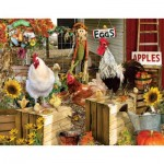 Puzzle  Sunsout-34896 XXL Teile - Lori Schory - Chickens on the Farm
