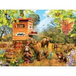 Puzzle  Sunsout-35036 Lori Schory - Bears and Bees