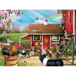 Puzzle  Sunsout-35068 XXL Teile - Barnyard Soccer