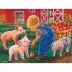 Puzzle  Sunsout-35875 XXL Teile - Little Farm Boy
