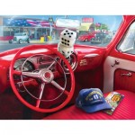 Puzzle  Sunsout-37133 XXL Teile - Greg Giordano - American Car