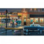 Puzzle  Sunsout-37756 XXL Teile - Small Town Saturday Night