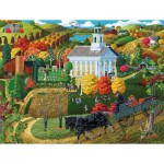 Puzzle  Sunsout-38761 XXL Teile - A Country Church