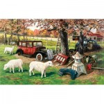 Puzzle  Sunsout-39482 Ken Zylla - Out To Pasture