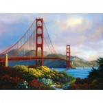 Puzzle  Sunsout-48505 Charles White - Morning at the Golden Gate