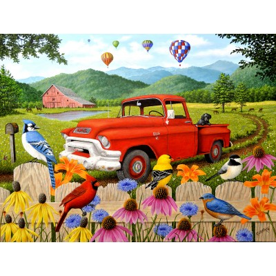 Puzzle Sunsout-51304 Robert Wavra - The Red Truck