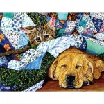 Puzzle  Sunsout-52387 XXL Teile - Quilted Comfort