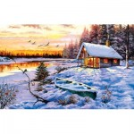 Puzzle  Sunsout-52766 The Macneil Studio - Log Cabin