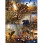 Puzzle  Sunsout-54672 Jim Hansel - Forest Collage