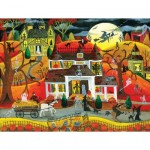 Puzzle  Sunsout-54771 XXL Teile - Halloween Fright Night