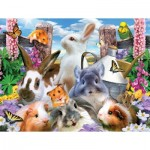 Puzzle  Sunsout-54931 Howard Robinson - Backyard Friends