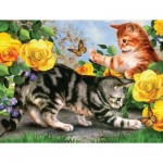 Puzzle  Sunsout-54933 XXL Teile - Kitten Play