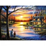 Puzzle  Sunsout-55124 Chuck Black - Father and Son