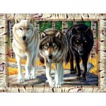 Puzzle  Sunsout-58681 Cynthie Fisher - Wolf Pack Colors
