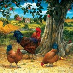 Puzzle  Sunsout-59724 XXL Teile - Rooster and Hens