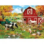 Puzzle  Sunsout-59760 XXL Teile - A Day on the Farm