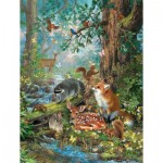 Puzzle  Sunsout-59788 XXL Teile - Woodland Forest Friends