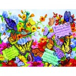 Puzzle  Sunsout-62908 XXL Teile - Butterfly Oasis