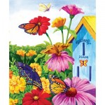Puzzle  Sunsout-62935 Nancy Wernersbach - Butterfly Homecoming