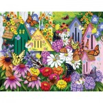 Puzzle  Sunsout-63004 Nancy Wernerbach - Butterfly Neighbors
