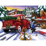 Puzzle  Sunsout-63023 XXL Teile - Bringing Home the Tree