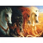 Puzzle  Sunsout-68420 Lindsburg-Osorio - Four Horses of the Apocalypse