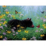 Puzzle  Sunsout-69601 XXL Teile - Black Bear and Butterflies