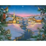 Puzzle  Sunsout-69609 XXL Teile - Abraham Hunter - A Winter's Silent NIght