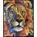 Puzzle  Sunsout-70720 Cynthie Fisher - Stained Glass Lion
