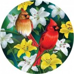 Puzzle  Sunsout-70965 XXL Teile - Cardinals in the Round