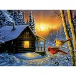 Puzzle  Sunsout-71138 Terry Doughty - Golden Frost