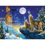 Puzzle  Sunsout-71739 Adrian Chesterman - Howling Wolves