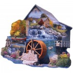 Puzzle  Sunsout-95065 Russell Cobane - The Old Mill Stream