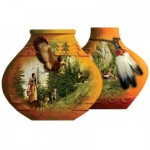 Puzzle  Sunsout-95429 Roberta Wesley - Indian Pots