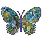 Puzzle  Sunsout-95571 Alixandra Mullins - Rainforest Butterfly