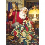 Puzzle   Tom Newsom - Quilting Santa