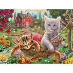 Puzzle   XXL Teile - Cats on the Farm