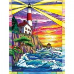 Puzzle   XXL Teile - Dolphin Bay Lighthouse