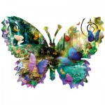 Puzzle   XXL Teile - Alixandra Mullins - Forest Butterfly