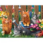 Puzzle   XXL Teile - Kittens in the Garden