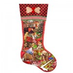 Puzzle   XXL Teile - Lori Schory - Puppy Stocking