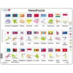 Rahmenpuzzle - The Flags and Capitals of 27 Countries in Asia and the Pacific