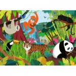 Puzzle  Nathan-86469 XXL Teile - Jungle Animals